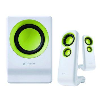 R-003/白綠/2.1聲道/三件式喇叭(福利品出清)