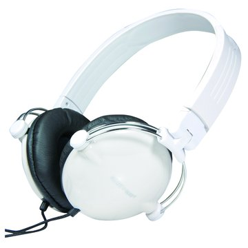 AM-212花心折疊(白)頭戴式耳麥