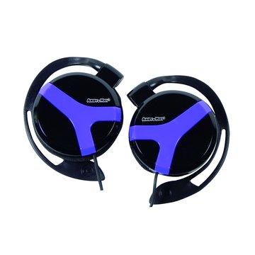 AM-327(黑紫)耳掛式耳機麥克風(福利品出清)