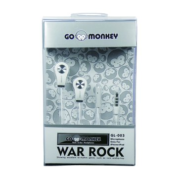 GL-003酷氣猴(白)耳塞式耳麥(福利品出清)
