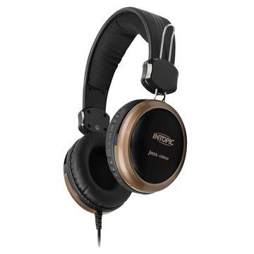 JAZZ-UB650(棕金)USB頭戴式耳機麥克風