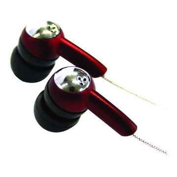 EMP-25/紅黑/時尚密閉式頸掛耳機(福利品出清)