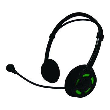M130BG(黑綠)頭戴式耳機麥克風(福利品出清)