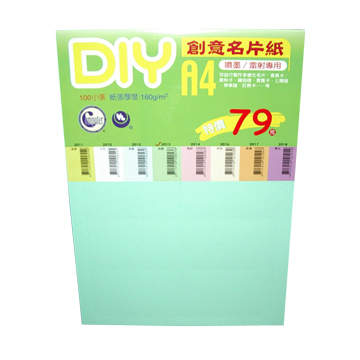 BP DIY  B創意(綠)名片10張160磅2013