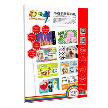 彩之舞  HY-H110 A4×8模 悠遊卡膠質貼紙-防水