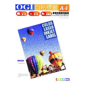 OGI 大統 N23006 2*3雷噴墨影印貼紙(黃)