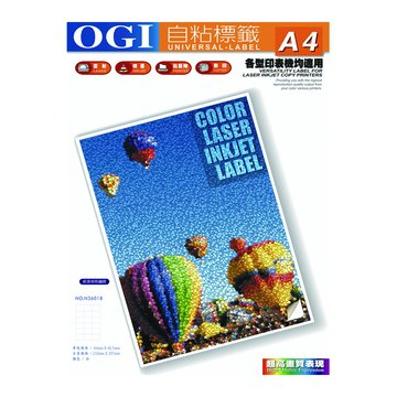 OGI 大統 N36018雷噴墨3*6圓角貼紙