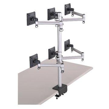 FOGIM  夾桌懸臂式液晶螢幕支架(六螢幕)