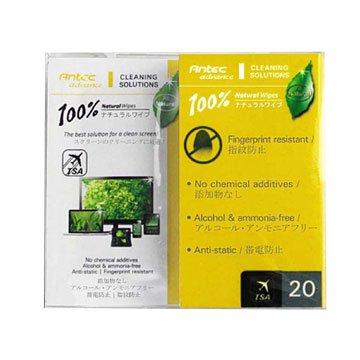 Antec 安鈦克 100%天然清潔濕紙巾/20包