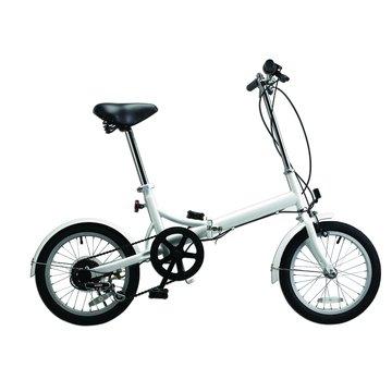 美利達6段變速折疊腳踏車(白色)