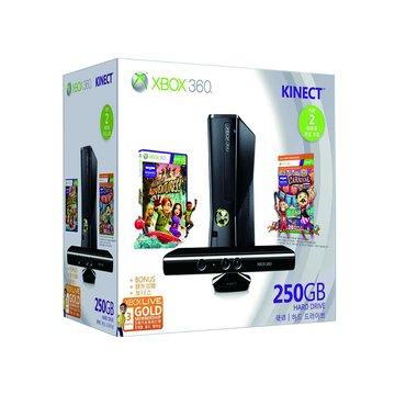 XBOX360 250GB(霧面黑) Kinect 歡樂包(福利品出清)