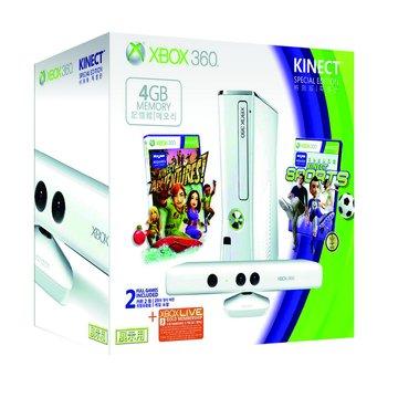 XBOX360 4G Kinect 冰晶白限量版主機(福利品出清)
