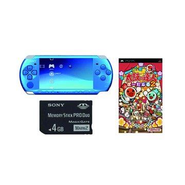 PSP 主機3007型(藍)-太鼓達人DX同捆包(福利品出清)
