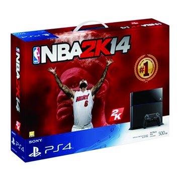 PS4 主機(500G黑) NBA 2K14同捆主機(福利品出清)