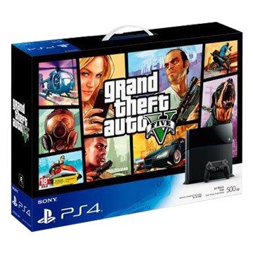 PS4 主機(500G黑)俠盜獵車手 5同捆(福利品出清)