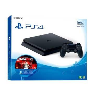 PS4主機(500G黑) NBA 2K17 主機同捆組