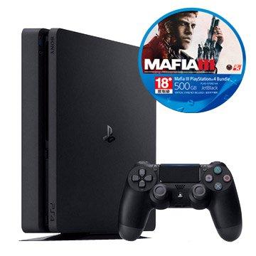 PS4主機(500G黑) MAFIA III 同捆組