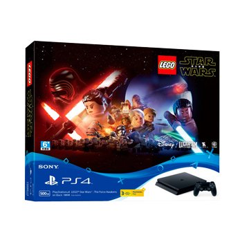 SONY 新力牌 PS4主機(500G黑) 樂高星際大戰:原力覺醒同捆組