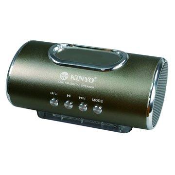 KINYO 金葉 香檳棕/MPS-378數位顯示讀卡隨身喇叭
