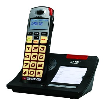 WD-7101D大字鍵增音DECT數位式無線電話(福利品出清)