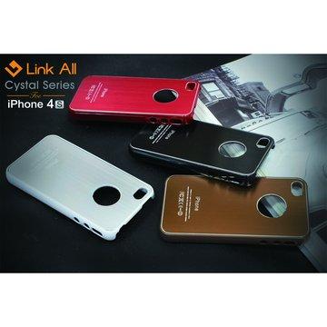 iPhone4S 髮絲紋-(紅) 保護殼