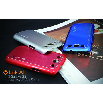 Galaxy S3 髮絲紋-(紅) 保護殼