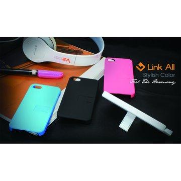 Link All  iPhone5 支撐型皮革-(白) 保護殼