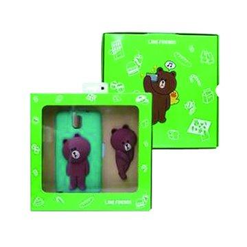 SAMSUNG 三星 LINE Brown熊大三星Note3背蓋組-綠