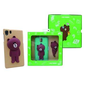 SONY 新力牌 LINE Brown熊大Z1手機背蓋組-棕