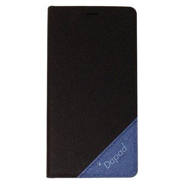 三星Note雙色(黑+藍)隱型磁扣側掀皮套