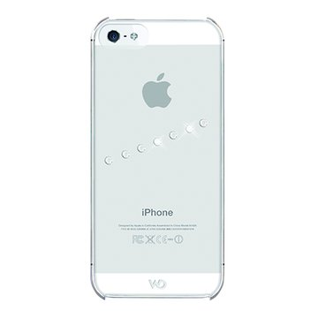 WDiPhone5施華洛世奇斜紋水鑽背蓋(透明)