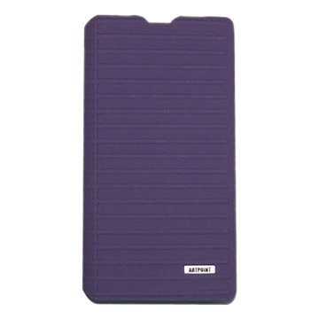 LASER STYLE真皮側翻皮套SONY Xperia Z2-紫
