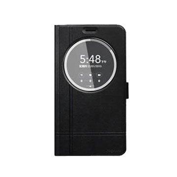 ZENFONE2 ZE550KL視窗短扣皮套-黑