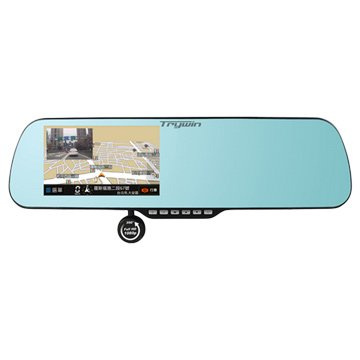 Trywin 3DX Mirror 5吋導航行車記錄器