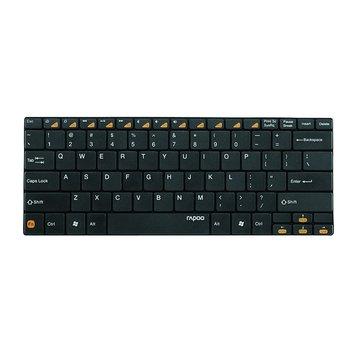 鍵盤Rapoo 雷柏E6100藍芽無線超薄鍵盤-黑