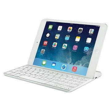 鍵盤:羅技ipad mini超薄鍵盤保護殼/白