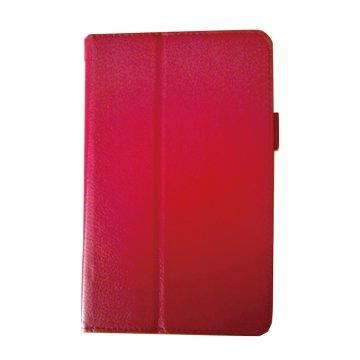 皮套:Acer B1-850 荔枝紋支架皮套/紅
