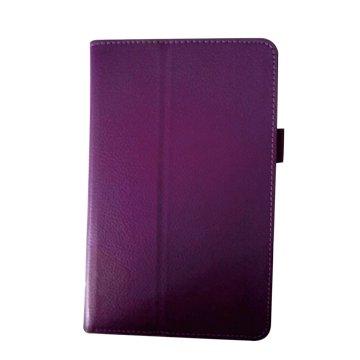 皮套:Acer B1-850 荔枝紋支架皮套/紫