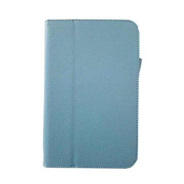 皮套:Acer B1-850 荔枝紋支架皮套/淺藍