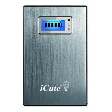 icute 11200mAH LCD行動電源-灰