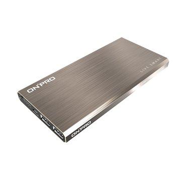 ONPRO 鴻普光電 鋁合金 12000mAh 超薄行動電源-玫瑰金
