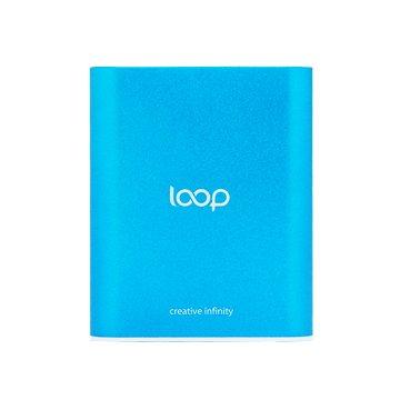 Loop12000系列鋁合金雙輸出行動電源-藍