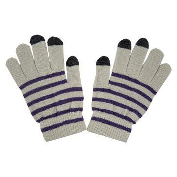 i.shock  平板/手機保暖觸控手套-紫白