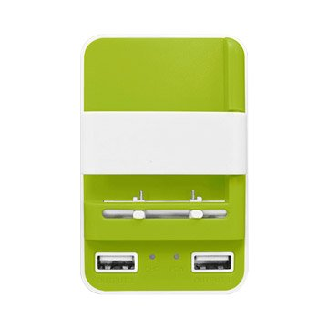 Power star智慧型USB快速充電器-綠