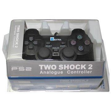 PS2 副廠震動手把 -黑色