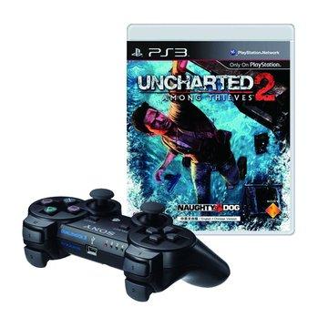 PS3 震動手把黑+祕境探險2 中英文合版