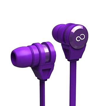 富士通E-11手機專用耳機麥克風-紫(福利品出清)