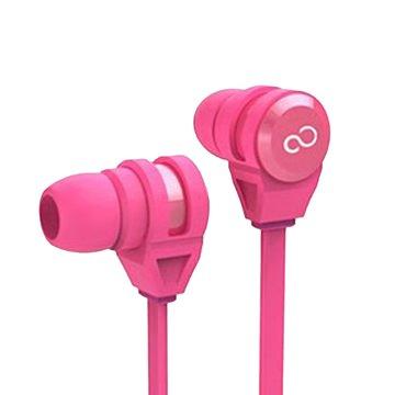 富士通E-11手機專用耳機麥克風-粉(福利品出清)
