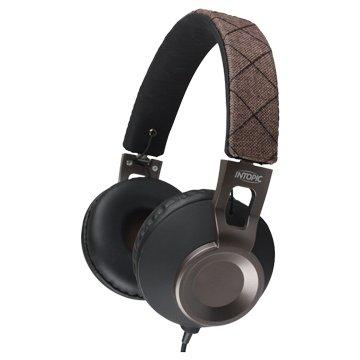 INTOPIC 廣鼎 摺疊音樂耳機麥克風JAZZ-M360-BR