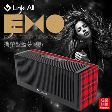 Link All  EXO/紅格紋  攜帶型藍芽喇叭